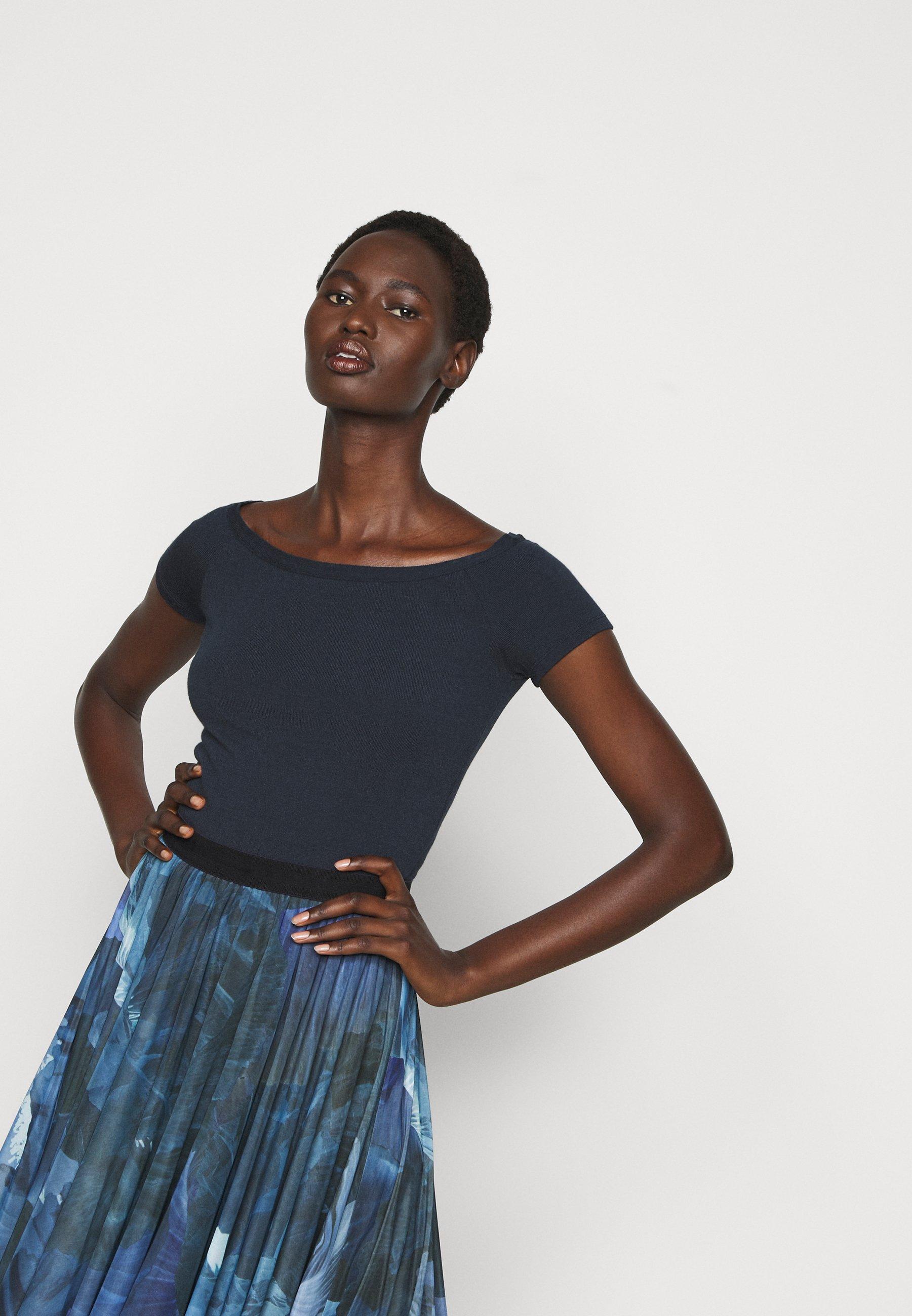 Max&co. Preside - T-shirts Navy Blue/mørkeblå