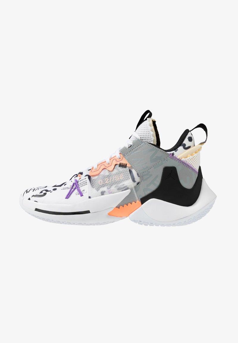 Jordan - WHY NOT 0.2 SE - Obuwie do koszykówki - white/orange pulse/black/particle grey/bright violet