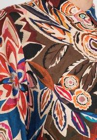 Emily van den Bergh - DRESS - Shirt dress - brown/blue/orange - 4