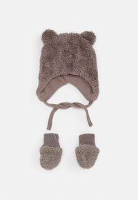 Name it - NBMMELBEL TEDDY SET UNISEX - Beanie - cinder - 0