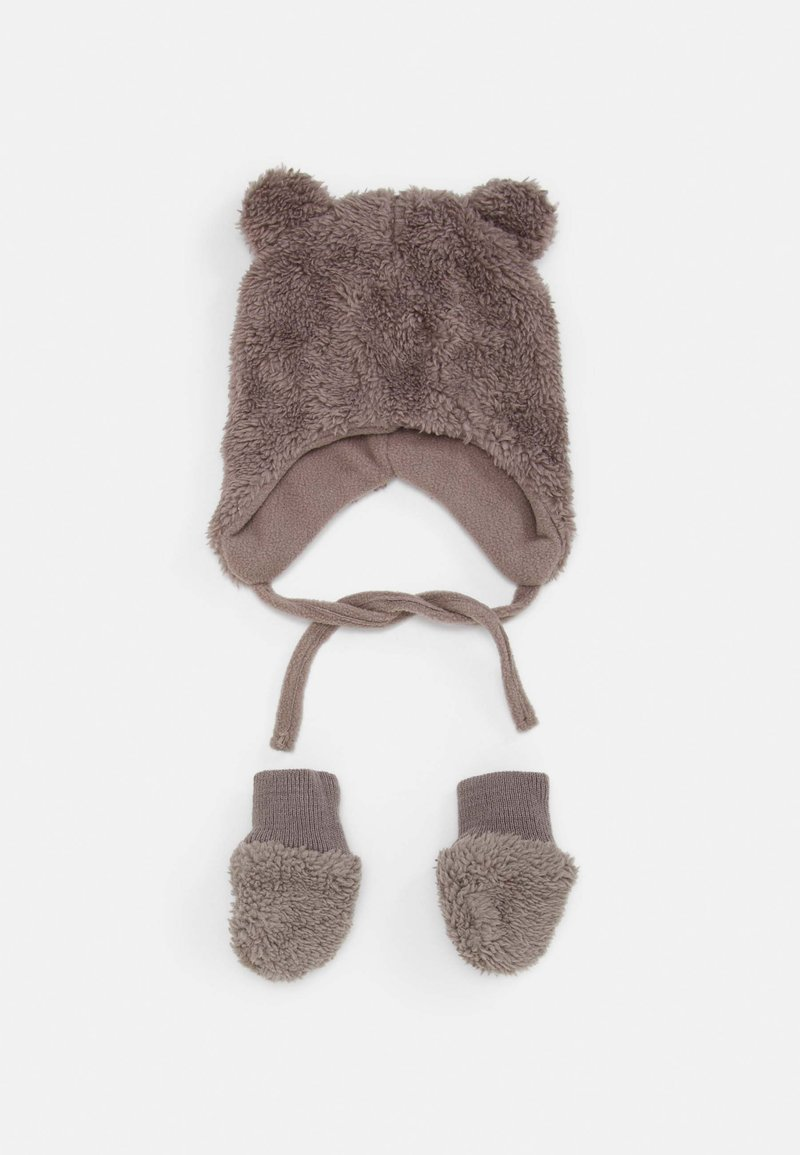 Name it - NBMMELBEL TEDDY SET UNISEX - Beanie - cinder