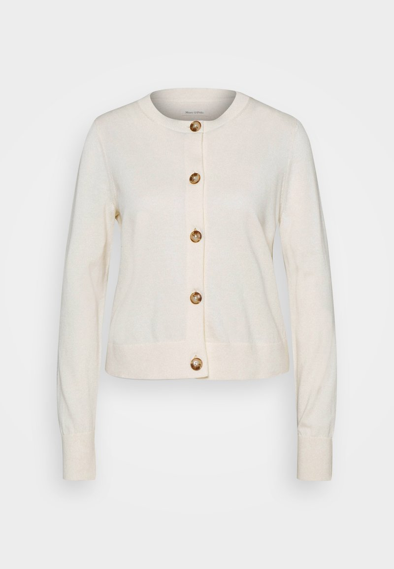 Marc O'Polo - CARDIGAN LONGSLEEVE ROUND-NECK BUTTON CLOSURE - Cardigan - raw cream