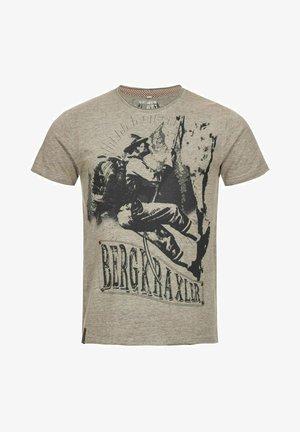 BERGKRAXLER  - Print T-shirt - grau