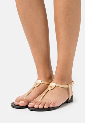 ALESSA METALLIC - T-bar sandals - gold