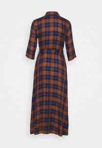 JDY - JDYSTAY MIDCALF DRESS - Košilové šaty - brown/blue - 1