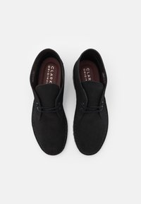 Clarks Originals - DESERT BOOT - Casual lace-ups - black - 3