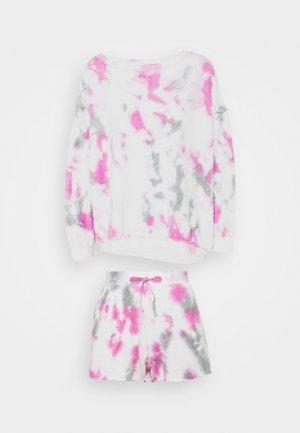 KELLY WASHED SET - Sweatshirt - hyacinth/charcoal