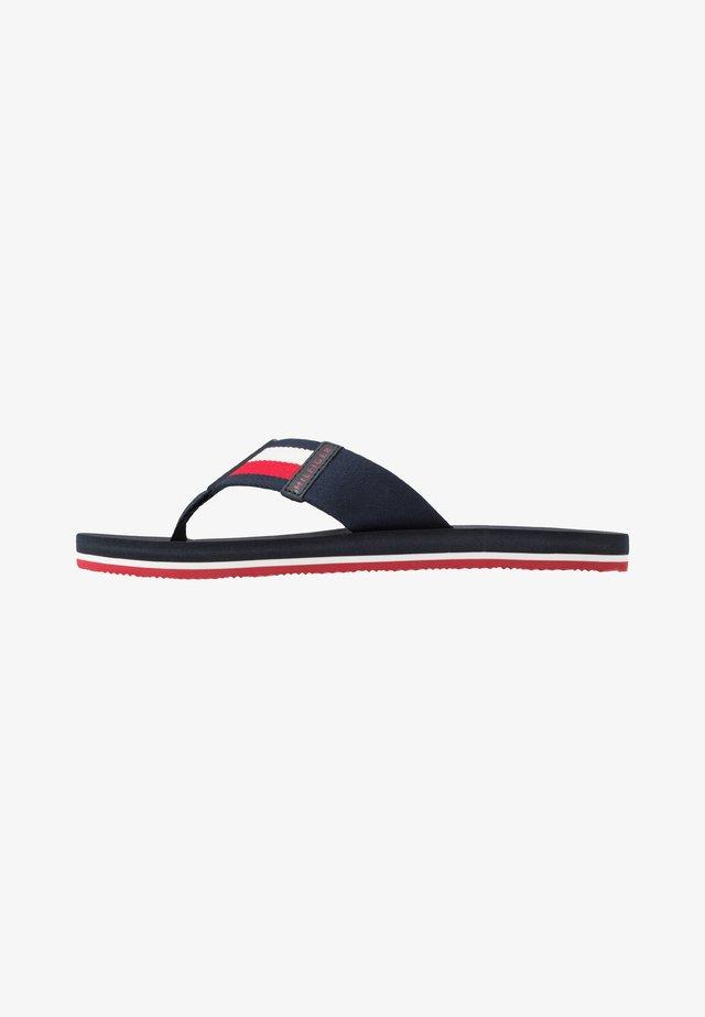 SPORTY CORPORATE BEACH  - T-bar sandals - blue