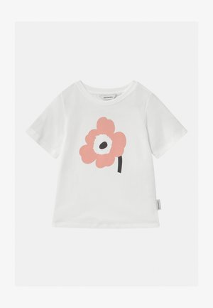 SOIDA UNIKKO - Print T-shirt - white/rose/black