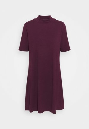 MOCK NECK DRESS - Jumper dress - secret plum