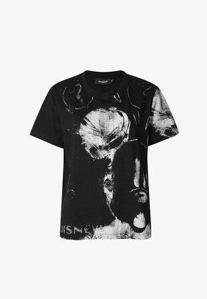 MICKEY MOUSE COTTON ILLUSTRATION - Print T-shirt - black
