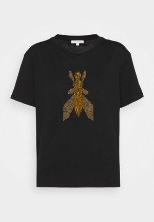 Print T-shirt - nero/gold