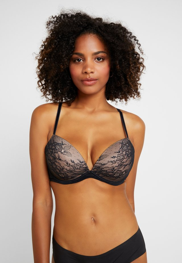 GLOSSIES PADDED PLUNGE BRA - Push-up bra - black