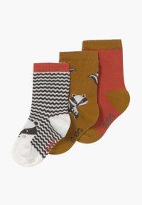Ewers - BADGERS 3 PACK - Socks - grau/toffee - 0