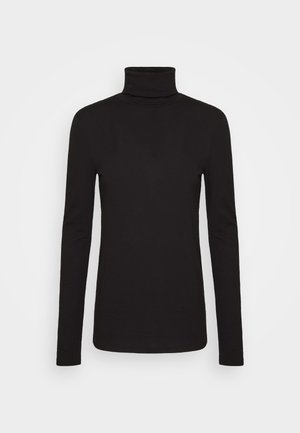 LONG SLEEVE TURTLE NECK - Long sleeved top - black