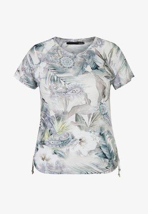 Print T-shirt - hellgrun