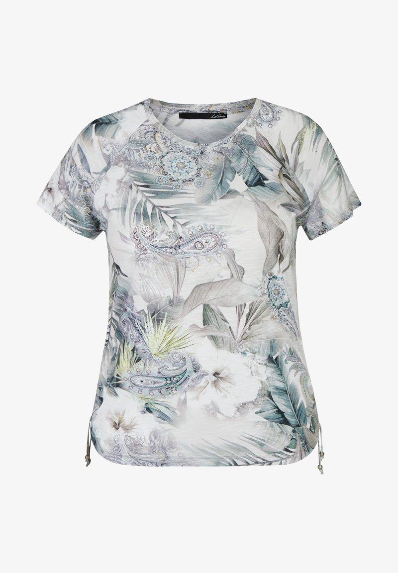 LeComte - Print T-shirt - hellgrun