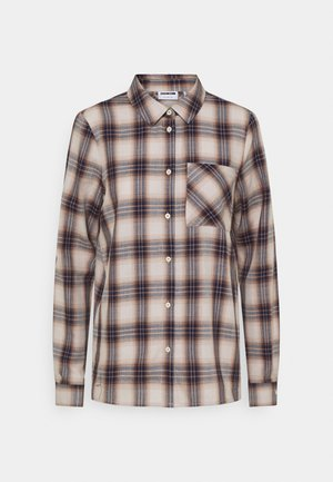 NMELLA  - Button-down blouse - eggnog/check