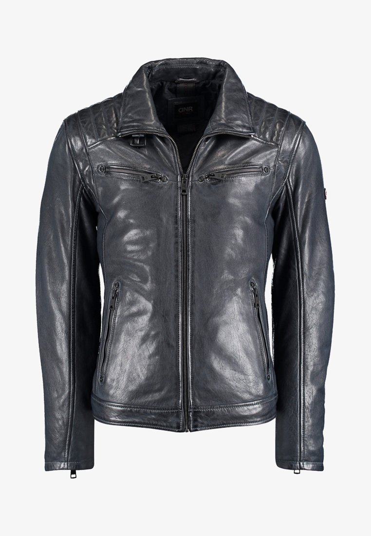 DNR Jackets - Leather jacket - dark blue