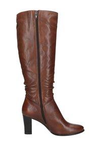 Manfield - MIT ABSATZ - High heeled boots - cognac - 4