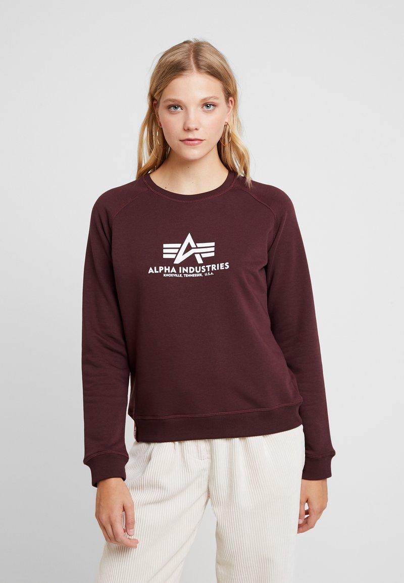 Alpha Industries - NEW BASIC  - Sweatshirt - deep maroon