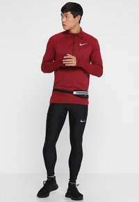 Nike Performance - RUN MOBILITY  - Leggings - black/reflective silver - 1