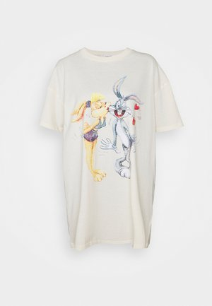 90'S TSHIRT NIGHTIE - Nattskjorte - white