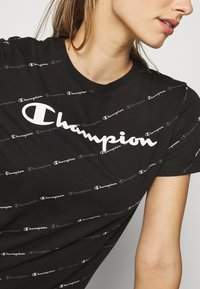 Champion - CREWNECK LEGACY - Print T-shirt - black - 4