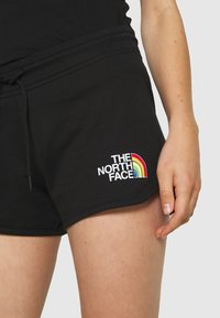 The North Face - RAINBOW SHORT - Sports shorts - black graphic - 5