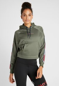 Tommy Hilfiger - HOODY CROPPED WITH TAPE - Huppari - green - 0