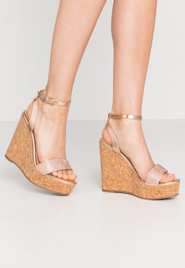 SHAYLA - Sandaler med høye hæler - rose gold