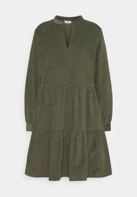 Marc O'Polo DENIM - DRESS GATHERED SKIRT - Day dress - utility olive - 0