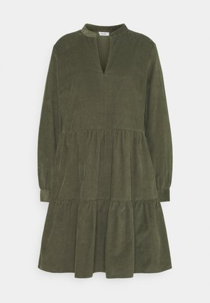DRESS GATHERED SKIRT - Day dress - utility olive