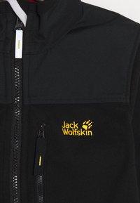 Jack Wolfskin - BLIZZARD JACKET KIDS - Fleece jacket - black - 4