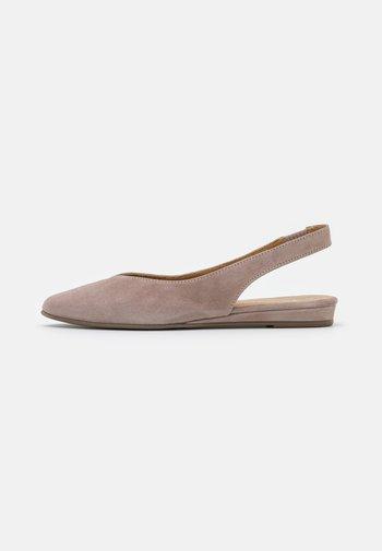 Slingback ballet pumps - taupe