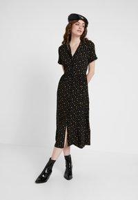 Envii - ENNAPLES DRESS - Shirt dress - black/orange - 1
