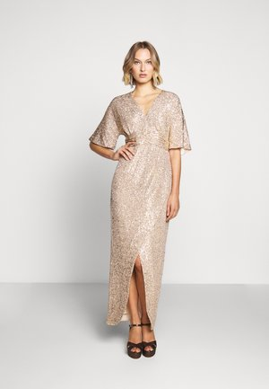 EXCLUSIVE V NECK DRESS - Suknia balowa - gold
