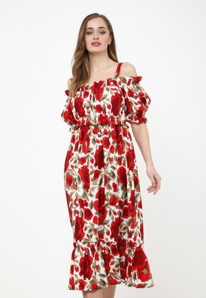 CERCANA - Day dress - milchig, rot