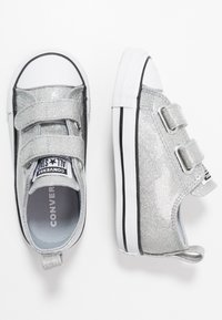 Converse - CHUCK TAYLOR ALL STAR  COATED GLITTER - Trainers - wolf grey/black/white - 0