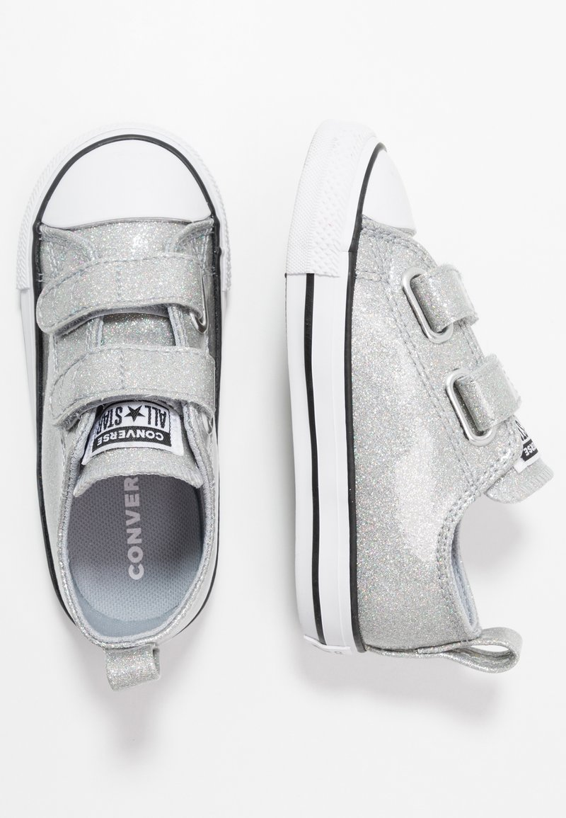 Converse - CHUCK TAYLOR ALL STAR  COATED GLITTER - Trainers - wolf grey/black/white