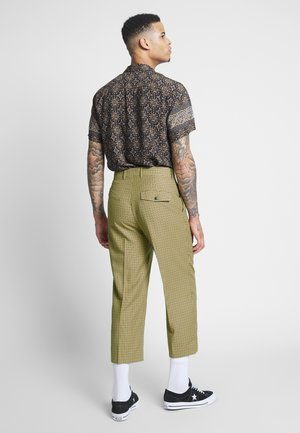 COLIN CHECKED TROUSERS - Pantaloni - beige