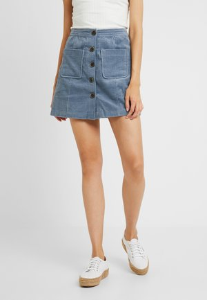 ONLPROUD BUTTON SKIRT - Áčková sukně - faded denim