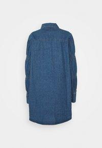 Missguided - ELASTICATED PUFF SLEEVE DRESS - Dongerikjole - blue - 6