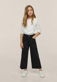 Mango - Flared jeans - sort denim - 3