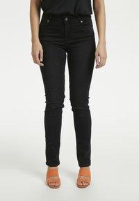 Denim Hunter - 33 THE CELINA HIGH CUSTOM - Straight leg jeans - black wash - 0
