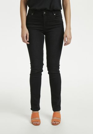 33 THE CELINA HIGH CUSTOM - Straight leg jeans - black wash