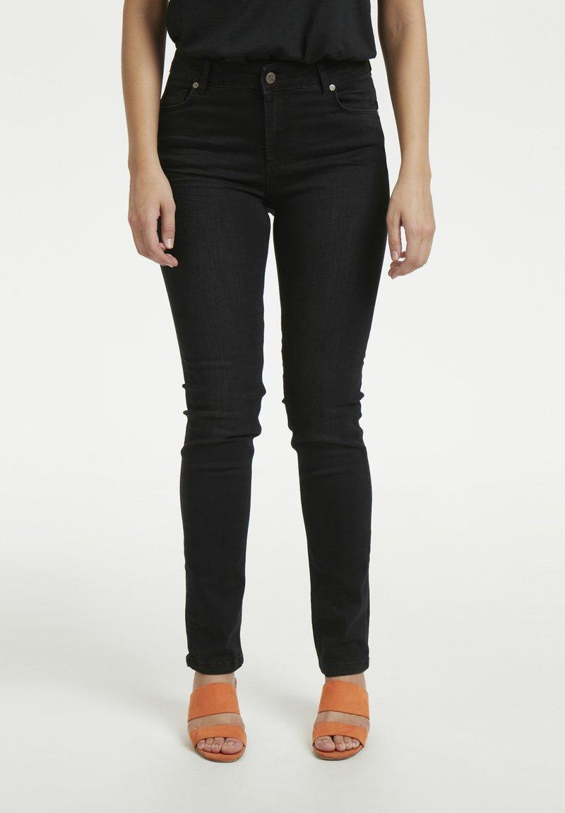 Denim Hunter - 33 THE CELINA HIGH CUSTOM - Straight leg jeans - black wash