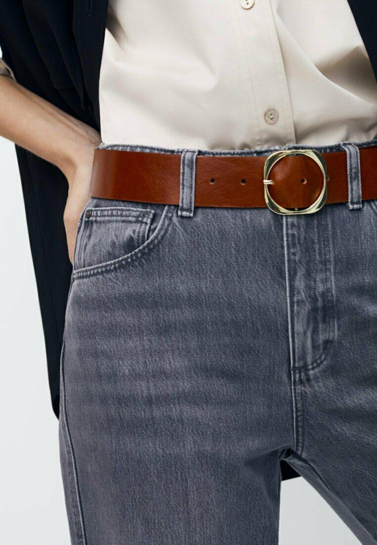 Massimo Dutti - MIT QUADRATISCHER SCHNALLE - Belt - brown
