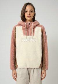 Napapijri - TEIDE - Sweat à capuche - whitecap gray - 0