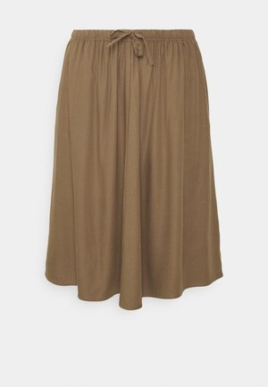 EASY SKIRT - A-line skirt - tobacco
